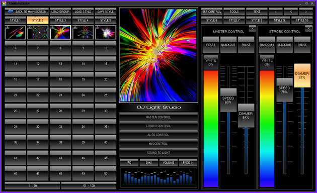dmx lighting control software for night clubs discos and bars. Black Bedroom Furniture Sets. Home Design Ideas